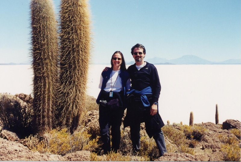On Isla del Pescado in Salar de Uyuni