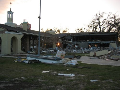 Remains of the Gulf Coast Maritime and Seafood Museum